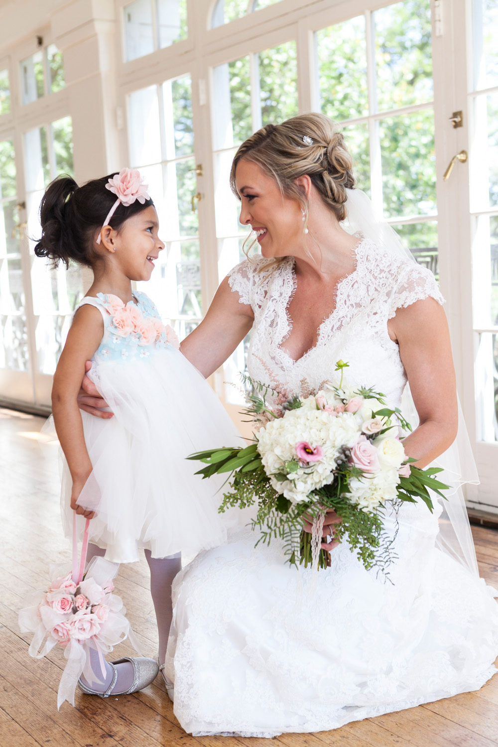 Glenview Mansion Wedding Bride with Daughter
