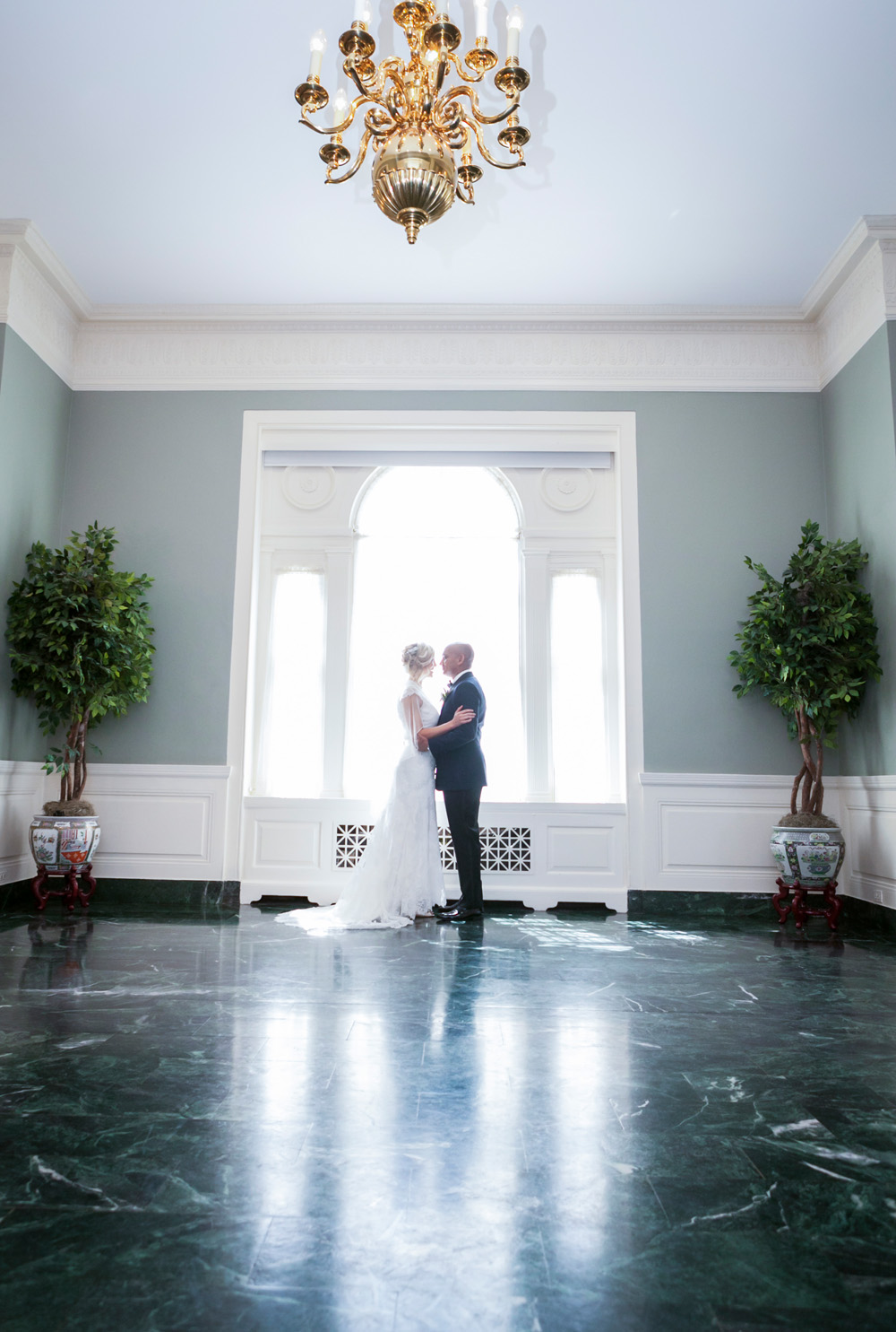 Glenview Mansion Wedding Bride and Groom
