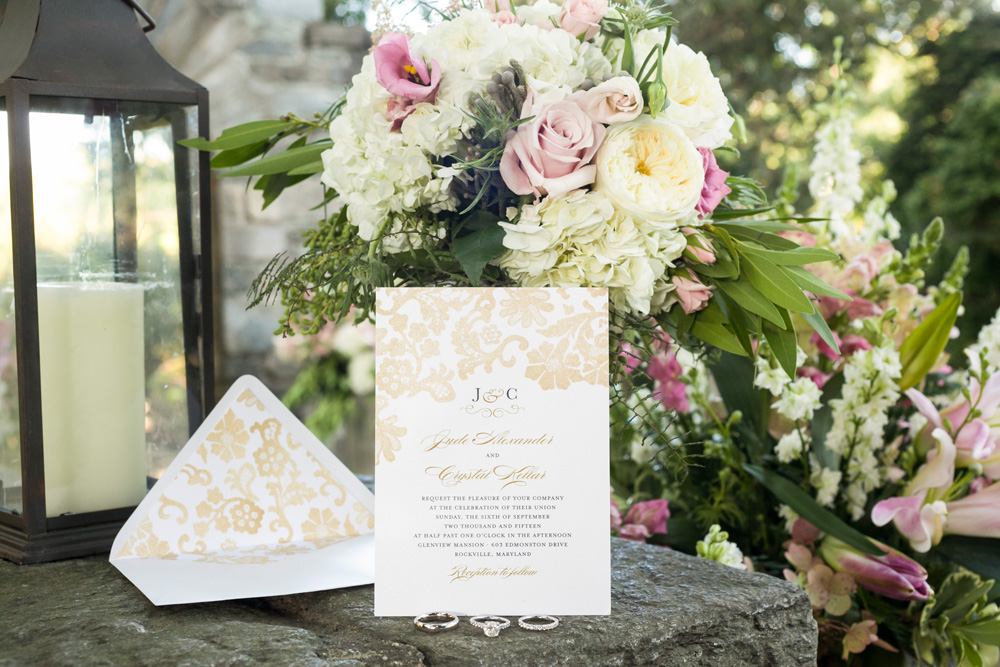 Glenview Mansion Wedding Invitation