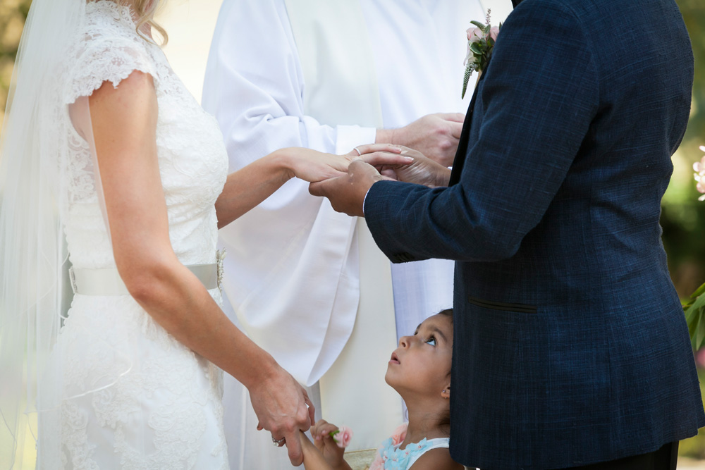Glenview Mansion Wedding ring exchange and flower girl